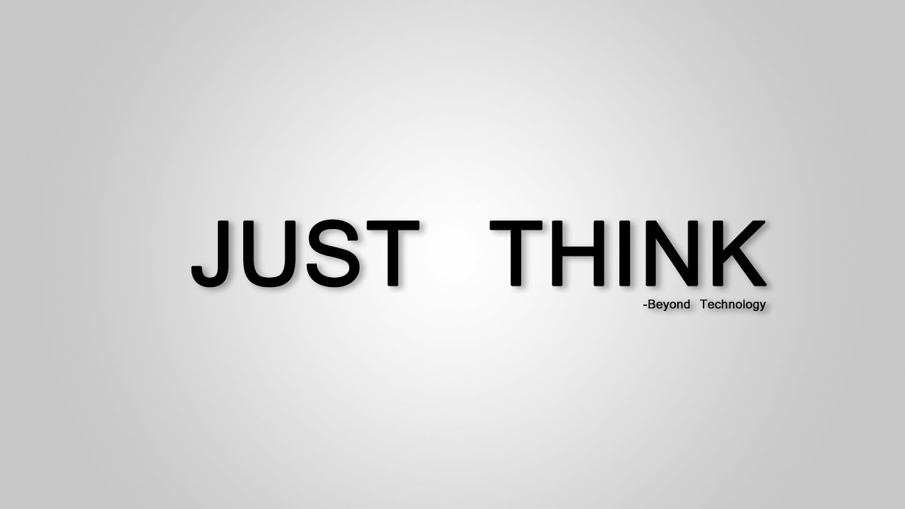 Just Think. (A film about social life) - YouTube