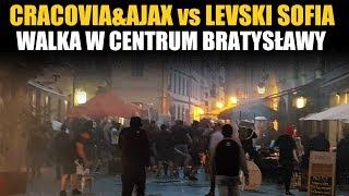Cracovia&Ajax vs. Levski Sofia fight in Bratyslawa