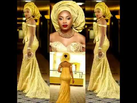 African Trendy Long Lace Dresses, Aso Ebi, African Fashion
