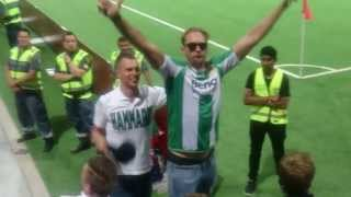 alexander skarsgrd gets the hammarby crowd going