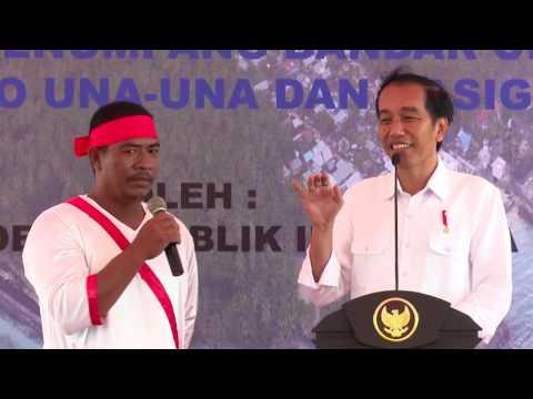 Presiden Joko Widodo Meresmikan Bandar Udara Miangas