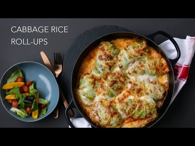 Cabbage Rice Roll-Ups