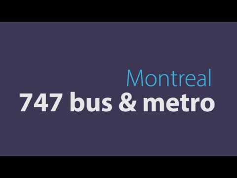 Public transportation from Montreal airport to Downtown