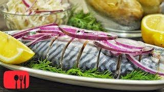 МАЛОСОЛЬНАЯ СКУМБРИЯ | Самый простой рецепт засолки Рыбы!