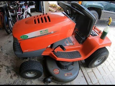 Doing Some Maintenance On A Scotts/John Deere S1642 Tractor