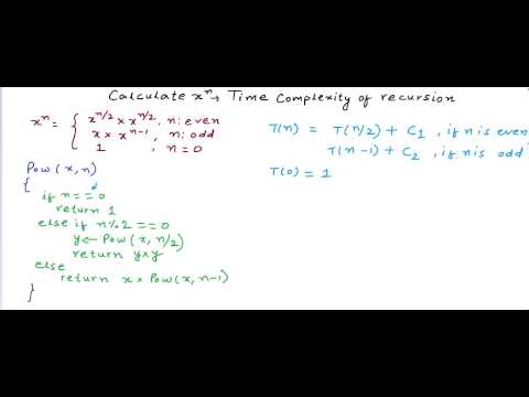 Exponentiation - Time Complexity analysis of recursion