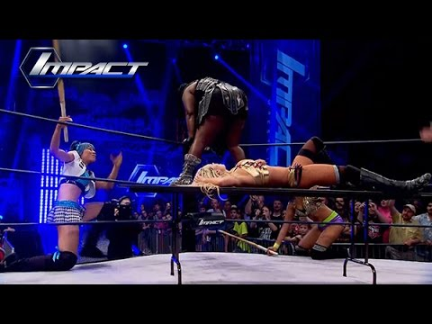KO Title Match Between Taryn Terrell and Awesome Kong Interrupted.. (Apr. 24, 2015)