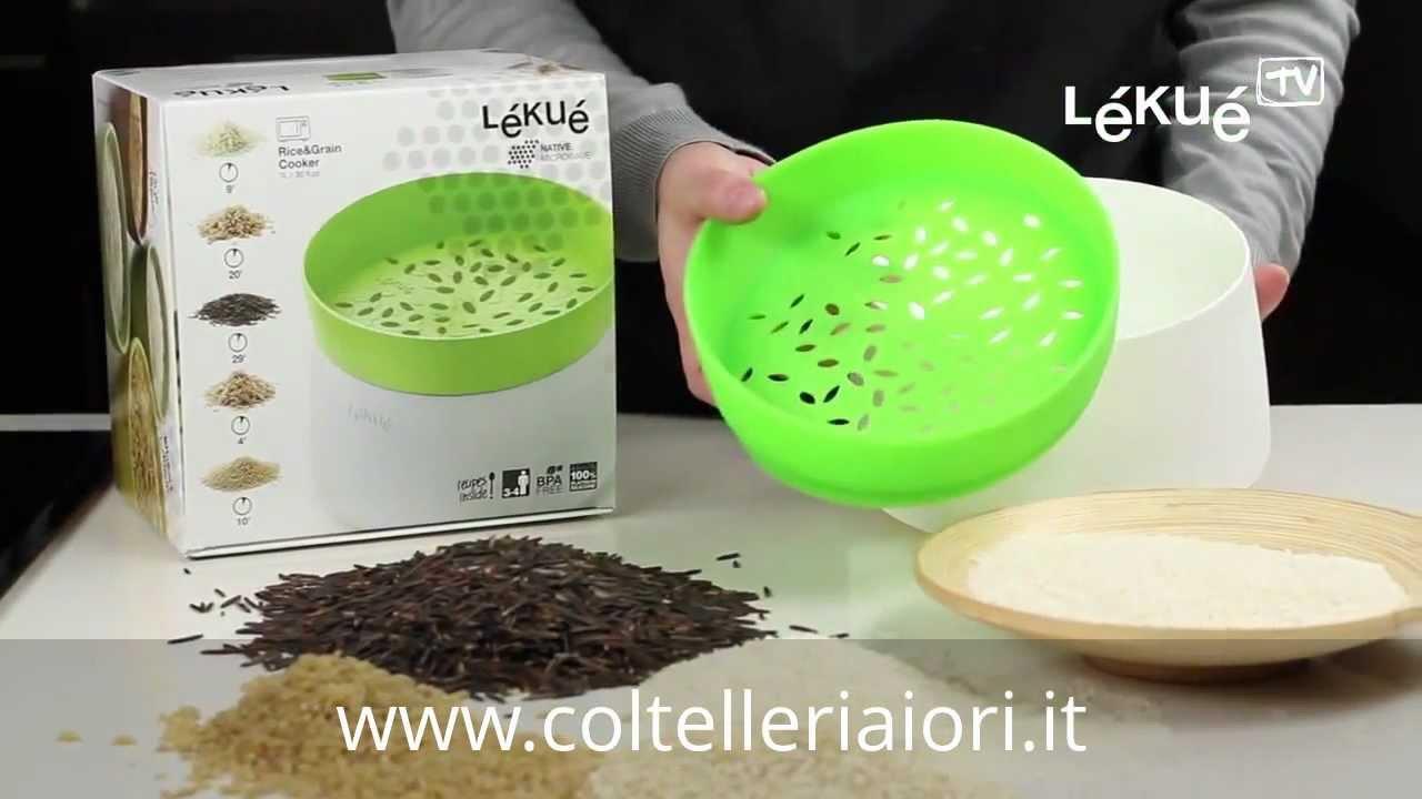 pentola microonde per cuocere il riso di lekue youtube
