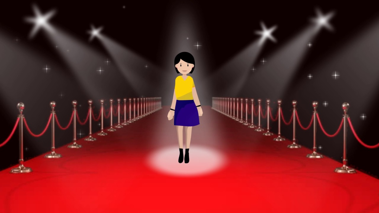 Cartoon Fashion Show Stage