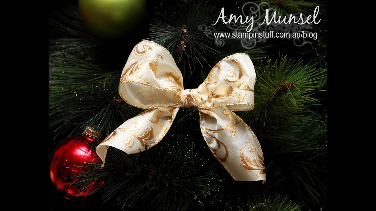how to make a perfect christmas bow for a tree - Christmas Decorations Bows