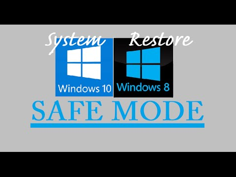 How To System Restore SAFE MODE Windows 10 8 HP Dell Toshiba Lenovo Asus Acer Command Prompt Wont Do