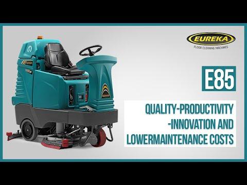 Industrial Scrubber-Dryer Eureka E85   Ride-On Floor Cleaning Machine