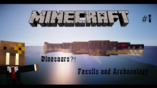 MINECRAFT DINOSAURS? Fossils and archaeology mod part 1
