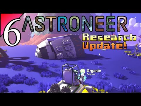 Astroneer 6:  Space Wreck Hunting!  Let's Play Research Upgrade Gameplay