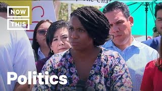 Ayanna Pressley Rails Against Protesters Outside Detention Center | NowThis