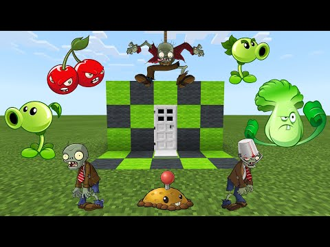 How to make a SECRET DOOR to PLANTS VS ZOMBIES DIMENSION in Minecraft PE