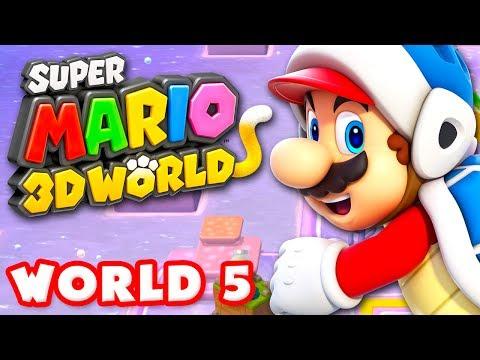 Super Mario 3D World - World 5 100% (Nintendo Wii U Gameplay Walkthrough)