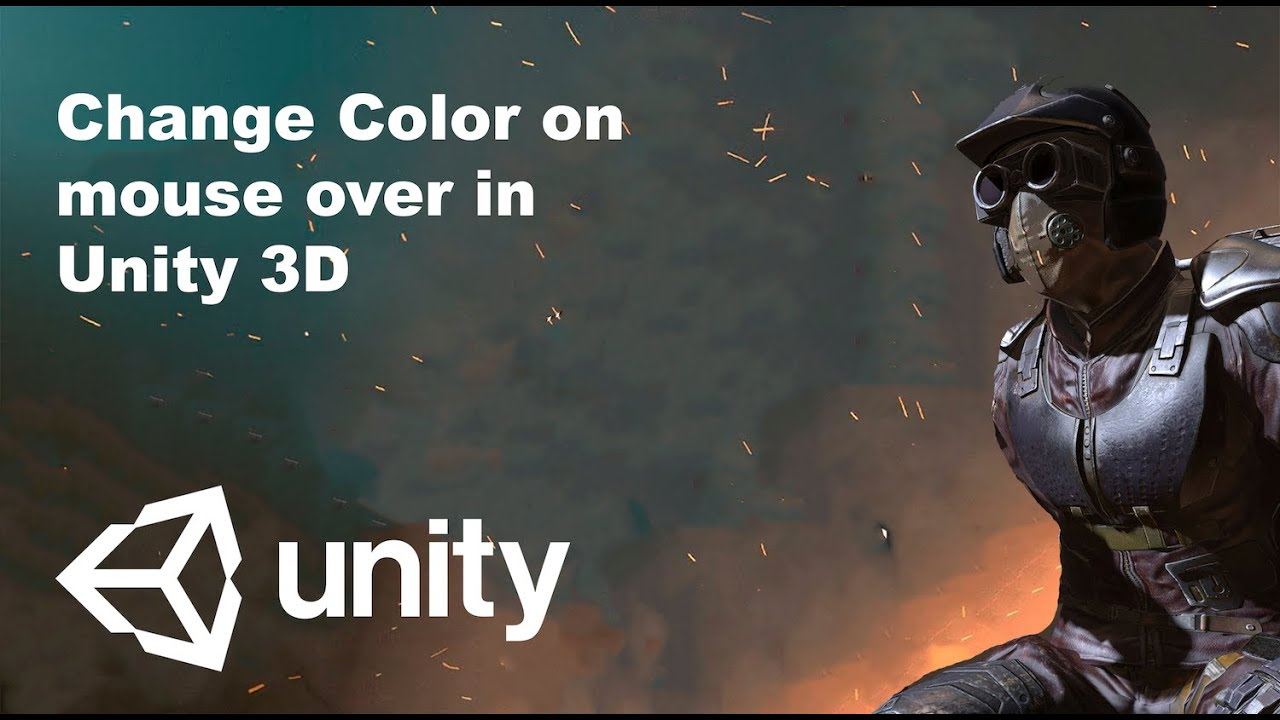 Chnage Color on mouse over in Unity3D - YouTube