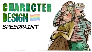 Character design speedpaint   with Nille Illustrations