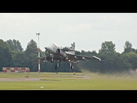 Saab JAS-39C Gripen Swedish Air Force departure at RIAT 2016 AirShow