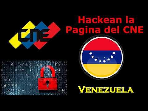 HACKEAN PAGINA CONSEJO NACIONAL ELECTORAL CNE VENEZUELA THE BINARY GUARDIANS