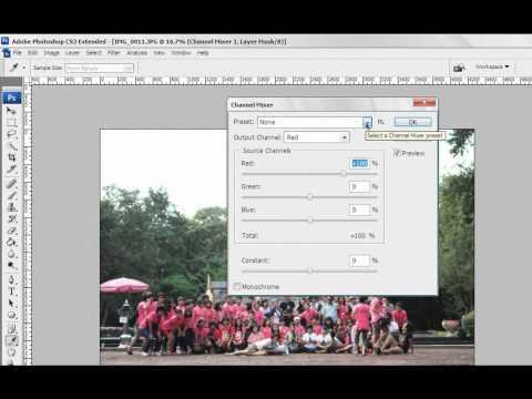 สร้างภาพอินฟาเรด Photoshop CS3.wmv