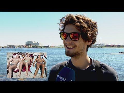 Hvad synes udenlandske turister om danskernes topløse solbadning? - Aftenshowet