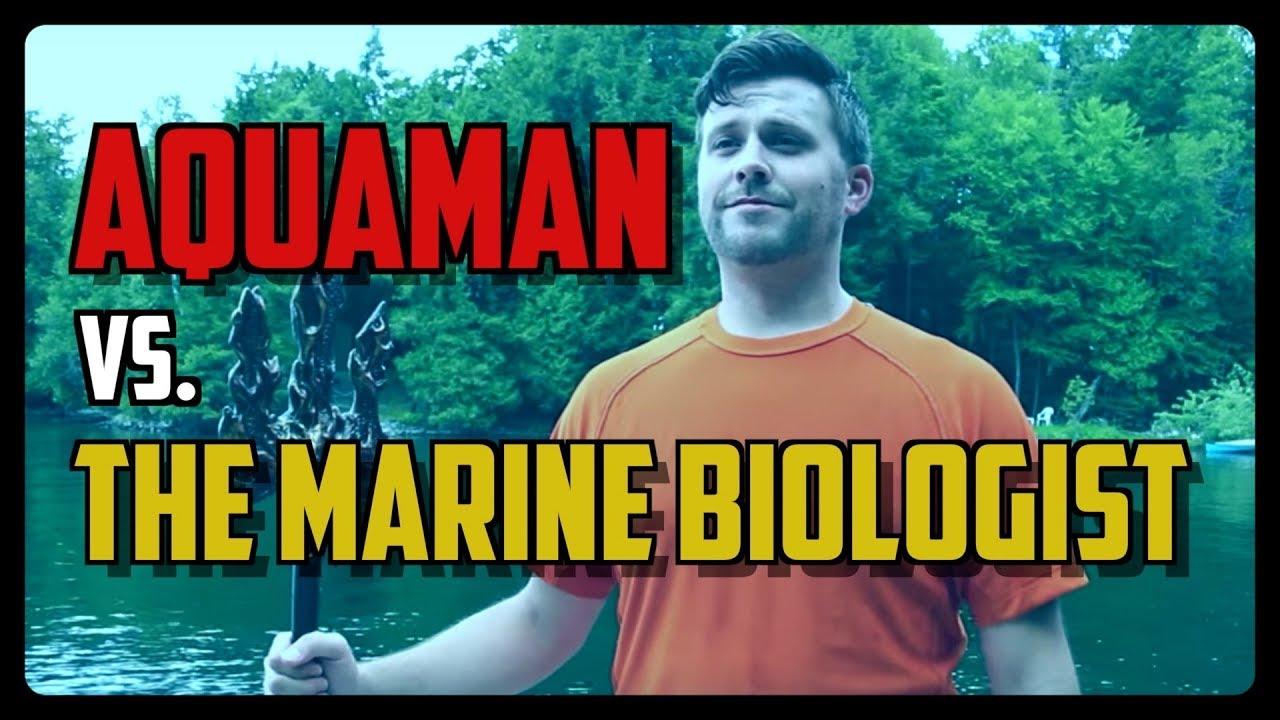 Sketch From Superheroes: Aquaman vs. The Marine Biologist