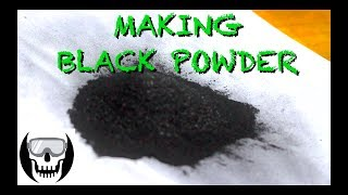 Making Black Powder (Gunpowder) at Home from Charcoal, Sulfur and Potassium Nitrate!