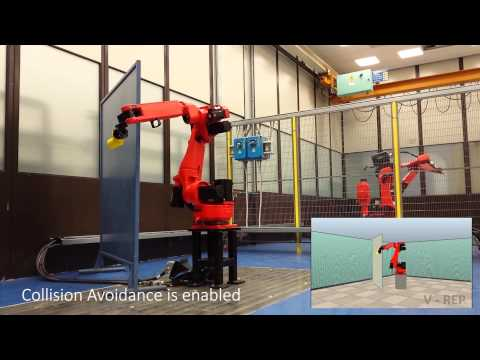 Collision avoidance: tests with a 7-dof redundant robot and a static obstacle