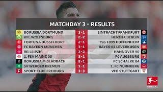 Goles & Estadísticas | Jornada 3 | All Goals & Highlights | Bundesliga | Matchday 3 | HD