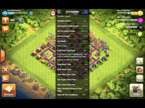 Xmod updated version for clash of clans