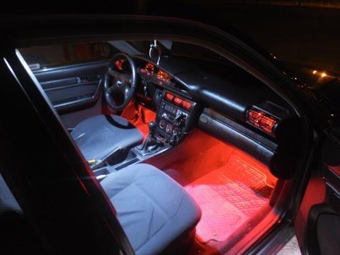 Montaż Oświetlenia Nóg Dywaników Audi A4 B5
