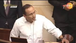 Intervención de John Fredy Quintero en el Congreso de la República