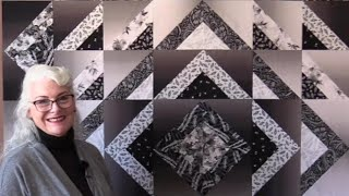 A Free Black, White and Grey Quilt Pattern