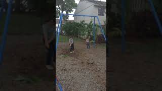 Trying to land on feet on a swing/epic fail #nico is lonely