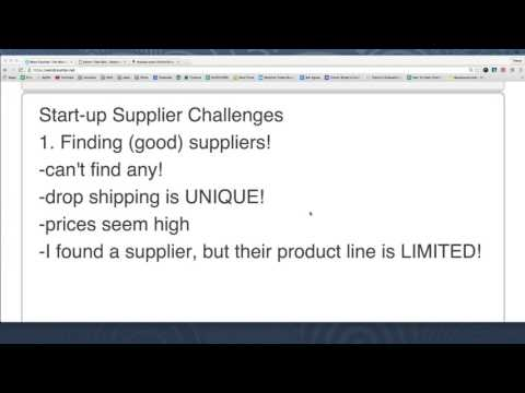 Volusion Training #11: Trouble with your Drop Shipping Suppliers? Consider This!