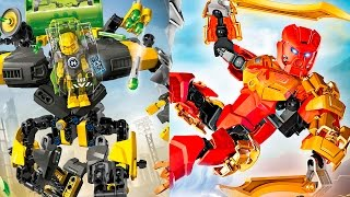 LEGO - Evo XL and Tahu. Встреча Ево XL и Таху бионикл.