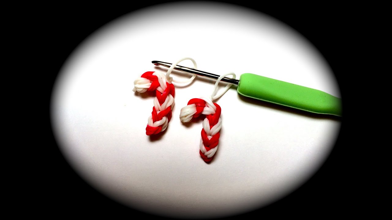 Candy Cane For Christmas Loom Band Charm Without The