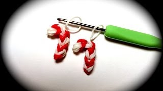 Candy Cane for Christmas Loom Band Charm Without the Rainbow Loom