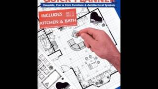 Home Book Summary: Home Quick Planner: Reusable, Peel  Stick Furniture  Architectural Symbols B...