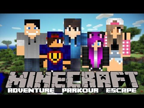 Minecraft: Dragonic Parkour - Halo, Tu jest Czit! [1/x] w/ Tula, Guga, GamerSpace, Happy