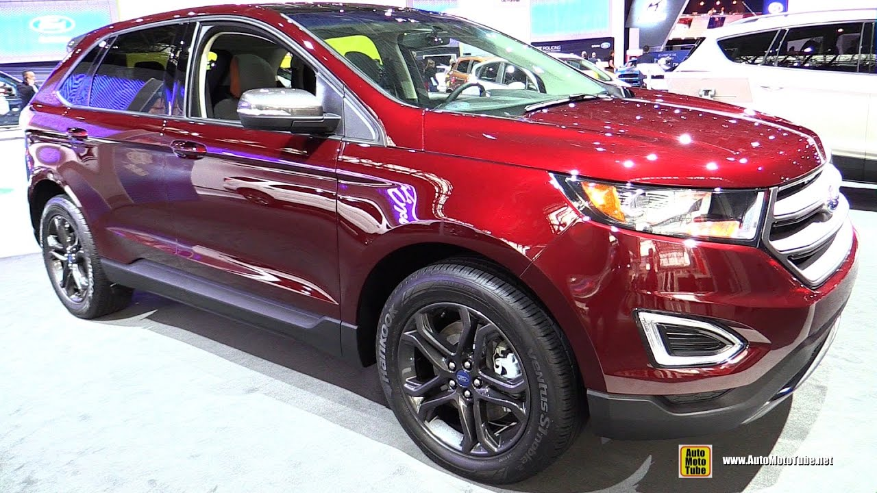 2018 Ford Edge SEL Sport Appearance Package - Exterior Interior Walkaround - 2017 NY Auto Show ...