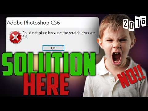 Photoshop Scratch Disks Are Full Error Solution 2016 | Quick & Easy Tutorial |