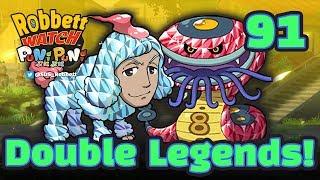 Yo-kai Watch Puni Puni #91: Double Legends! Crystal Dandoodle and Crystal Slurpent! Robbett Watch