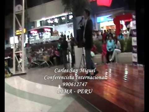 Carlos San Miguel en PLAZA VEA - Oratoria 967070767 (Lima-Perú)