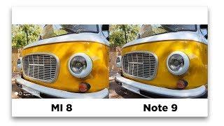 Xiaomi Mi 8 против Note 9 — БАТЛ КАМЕР