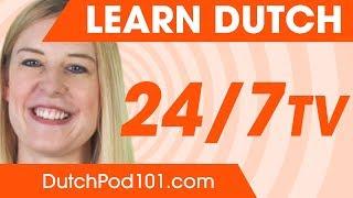 Learn Dutch with DutchPod101.com live stream on Youtube.com
