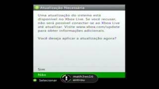 XBOX 360 NOVA ATUALIZAÇÃO DA XBOX LIVE FEITA NO DESBLOQUEIO LT 3.0