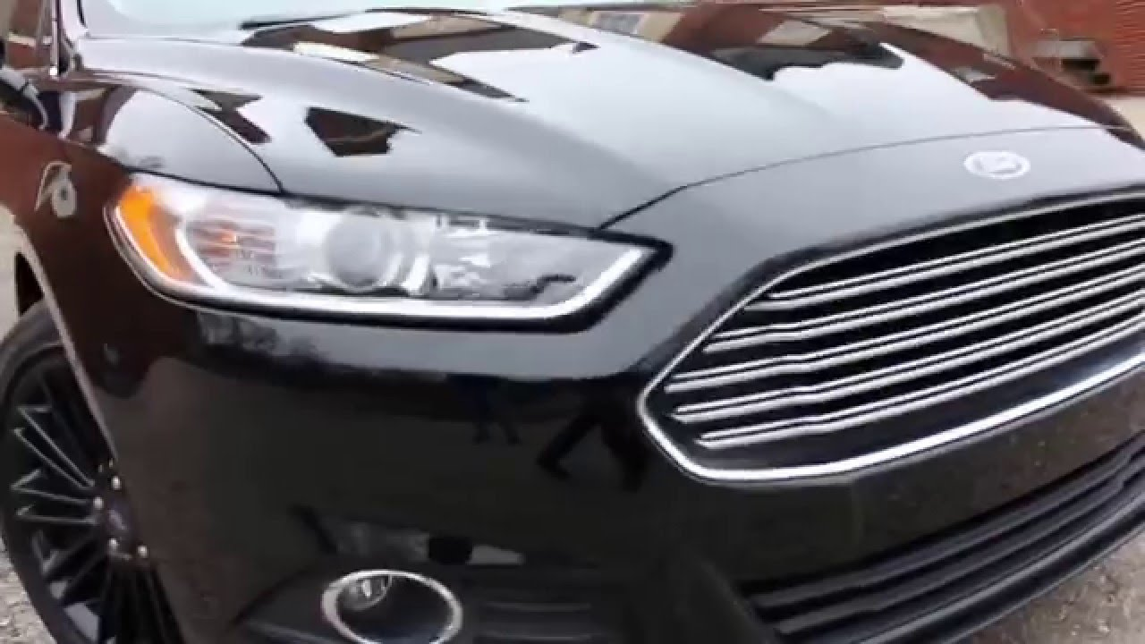 Black Ford Fusion >> 2016 All Black Ford Fusion Youtube